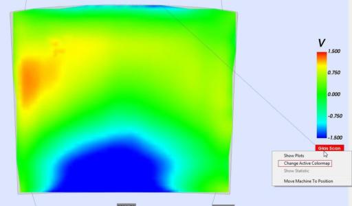 optical raster scan heatmap result